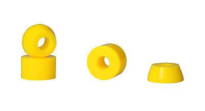 Bushings Gelb Longboard Skateboard Lenkgummis 80A Set für 2 Achsen, NEU
