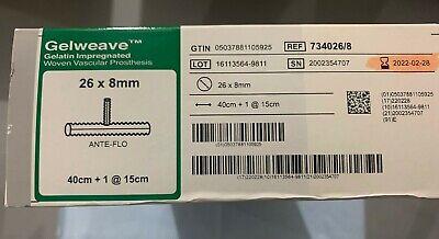 Terumo Vascutek 7340268 Gelweave 26 X 8mm Exp 2022
