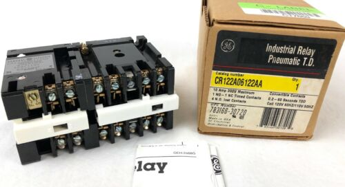 New Surplus GE General Electric CR122A06122AA Industrial Relay Pneumatic TD