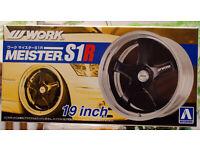 "Reifen 1:24 # 06 Aoshima 052457 Work Meister S1R 19/"" inkl"