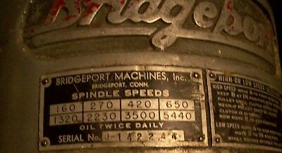 Bridgeport Mill J Head Quill Pinion Shaft Bushing Gear And Return Spring