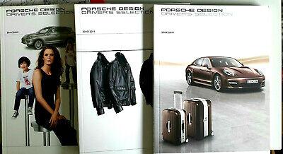 3 BROSCHÜREN PRODUKT ZUBEHÖR INFORMATION PORSCHE DESIGN DRIVER'S SELECTION SHOP