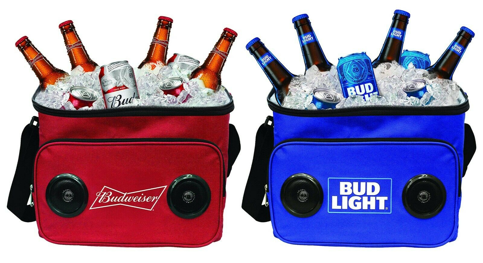 Bud Light Budweiser Soft Beer Cooler with Built-in Wireless