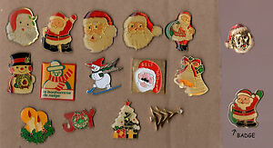 Lot-de-15-pin-039-s-1-badge-Theme-Noel