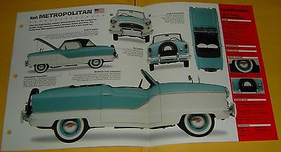 1957 AMC Nash Metropolitan 1489cc 4 Cylinder Zenith Carb info/Specs/photo 15x9