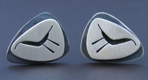 Unique Cuff Links by Modernist Jeweler Lore Garrick Circa1950-60