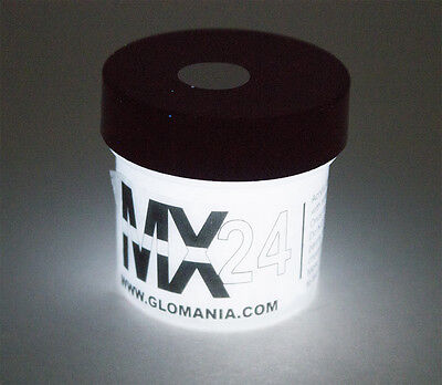 White MX24 Extreme Glow in the Dark Paint Super Bright 1oz, FREE KEY - Glow Paint