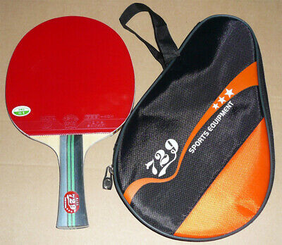 729 Friendship 3Star (Best) Carbon Table Tennis Bat /Racket +Case, New