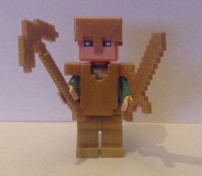 LEGO Minecraft Alex mit Gold Rüstung + Waffe (Figur) unbespielt  ()