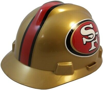 San Francisco 49ers Msa Nfl Hard Hat With Fas Trac Suspension