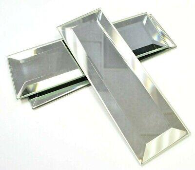 2x6 Wide Beveled Subway Mirror Tile Backsplash Wall Decorative Kitchen Bath ](Mirrored Tile)