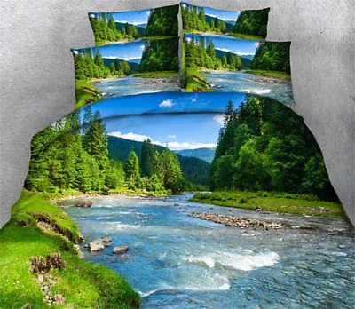 Beautiful Nature 3D Printing Duvet Quilt Doona Covers Pillow Case Bedding Sets ()