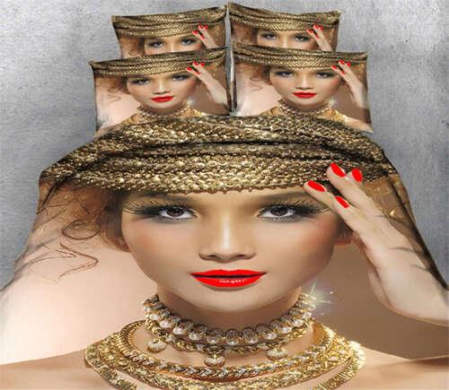 Charming Woman 3D Printing Duvet Quilt Doona Covers Pillow C
