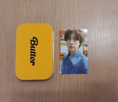 BTS Butter  OFFICIAL Weverse Pre-Order Benefit Cream Case + Jin Photocard Set