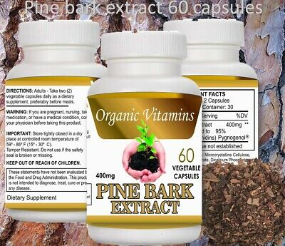 PINE BARK EXTRACT 60 CAPSULES 400mg BEST DEAL of pine Pycnogenol French (Best Deals)
