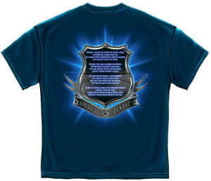 New Navy Blue T Shirt With Officers Prayer Police Law