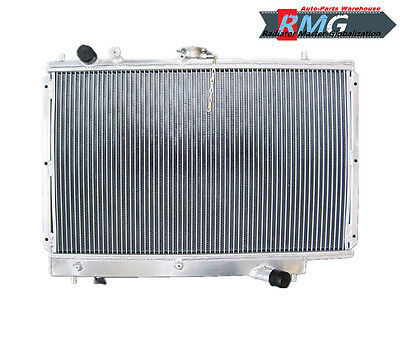 2Row Aluminum Radiator  For 1989-1994 Mazda 323 Protege 1.6L 1.8L 1991 1992 1993