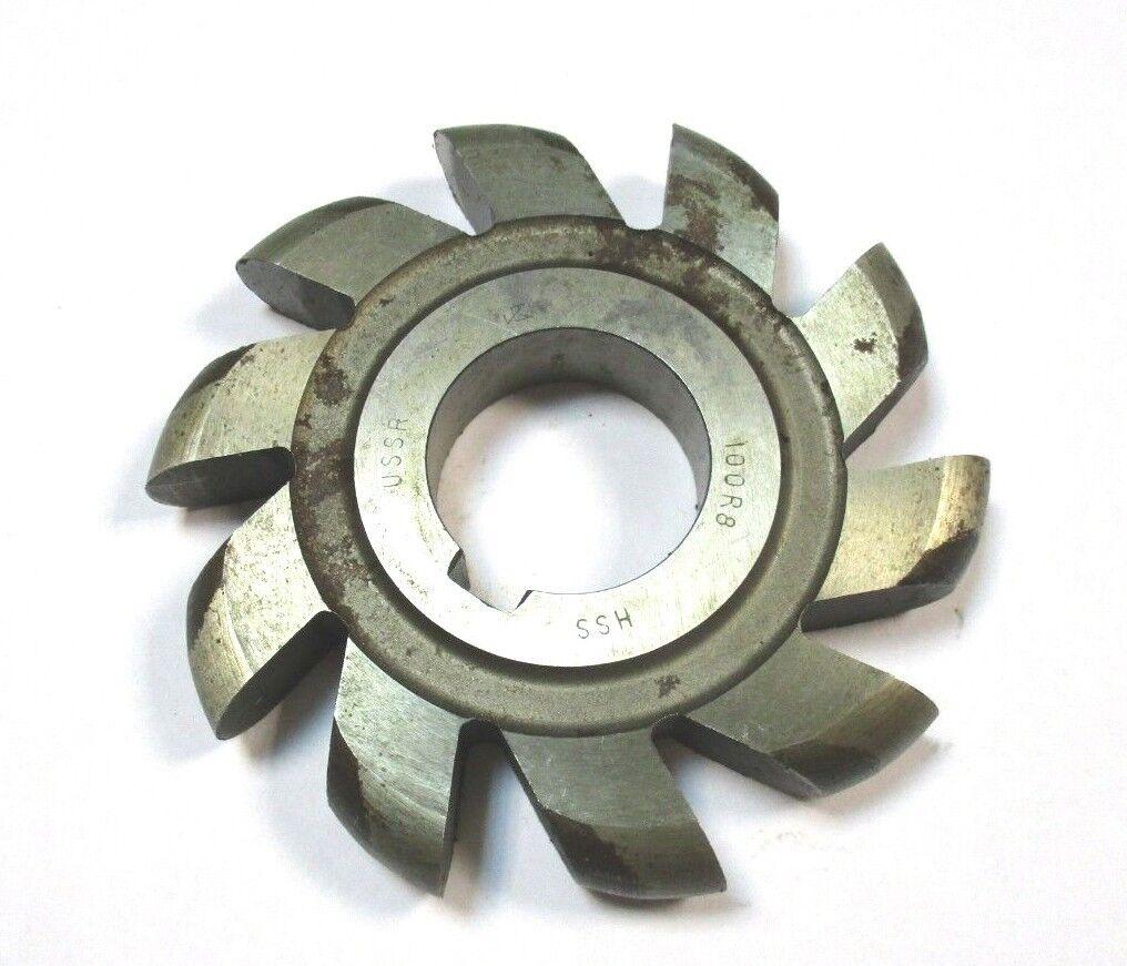 Halbkreisfräser Formfräser konvex HSS Ø100 x 16 x 32 R=8 USSR  A4451