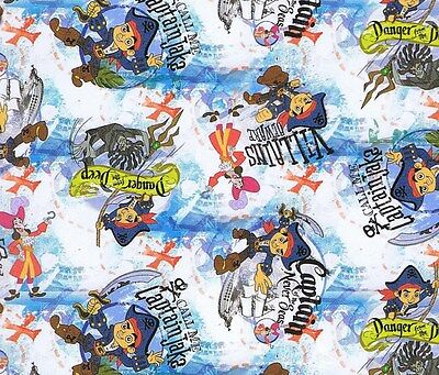 Jake And The Neverland Pirates Fabric (Fat Quarter Disney Jake And The Neverland Pirates Toss Cotton Quilting)