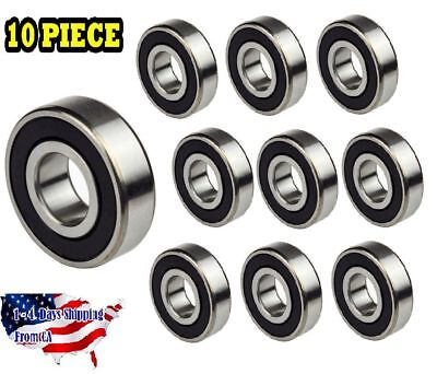 608-2rs Ball Bearing Dual Sided Rubber Sealed Deep Groove 10pcs