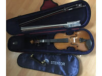 1/4 size Stentor II Complete outfit with Upgraded extra Horsehair Rosewood Bow and Dominant Strings