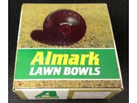 4 X ALMARK STERLING LAWN BOWLS SIZE 4H BOXED AND IN SUPERB CONDITION!!!