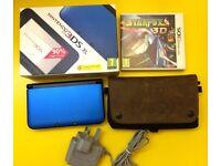 Blue Nintendo 3DS XL Bundle (inc. 7 Games, Waterfield Case & Mains Charger)