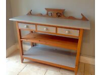 Large Wooden & Painted Console