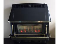 Robinson Willey Firecharm 4.78 kw Outset Gas Fire ( Black )
