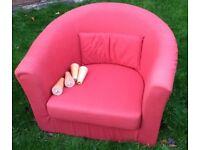 Armchair (Tullsta, IKEA) Red Colour