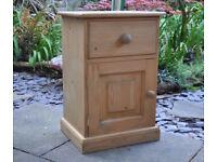 Solid Pine bedside cabinet