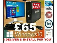WINDOWS 10 PC DESKTOP COMPUTER, I DELIVER&INSTALL 4U