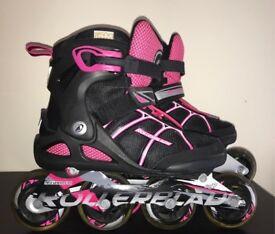 Ladies pink/black rollerblades size 5 UK