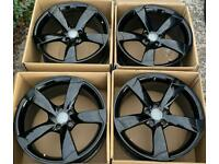 Audi A4 19 inch Black Edition Alloy Wheels 5 x 112 | Genuine Rotors | 8.5J ET43 | B8 B8.5 A5 S Line