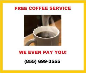 Free K-Cup Coffee Vending Machine & Service For Your Business  (855) 699-3555