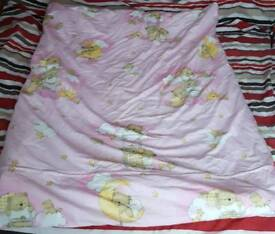 Cotbed duvet with duvet cover