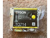 Sealed Yellow Epson T0714 Ink Cartridge