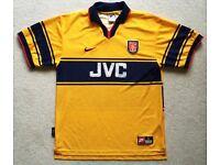 RARE VINTAGE 1997 ARSENAL FC AFC AWAY FOOTBALL SHIRT SIZE LARGE L GUNNERS SOCCER TOP JERSEY CLUB VGC