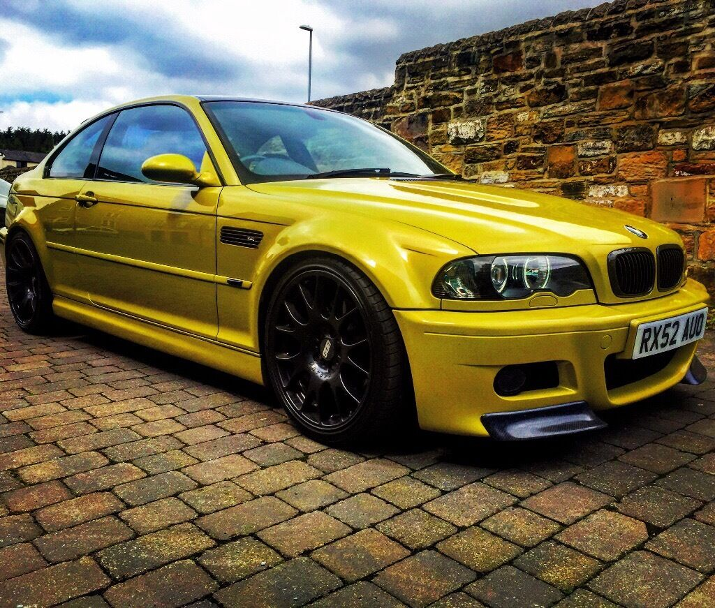 BMW M3 e46 3 series coupe SMG modified Phoenix yellow | in ...