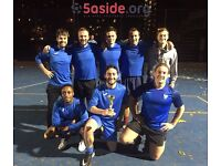 Individual players wanted for Battersea Tuesday 5-a-side football league