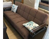 * 14 DAYS MONEY BACK GUARANTEE * TURKISH SOFA BED - CONVERT INTO BED WITH MASSIVE - SAME DAY DELIVER