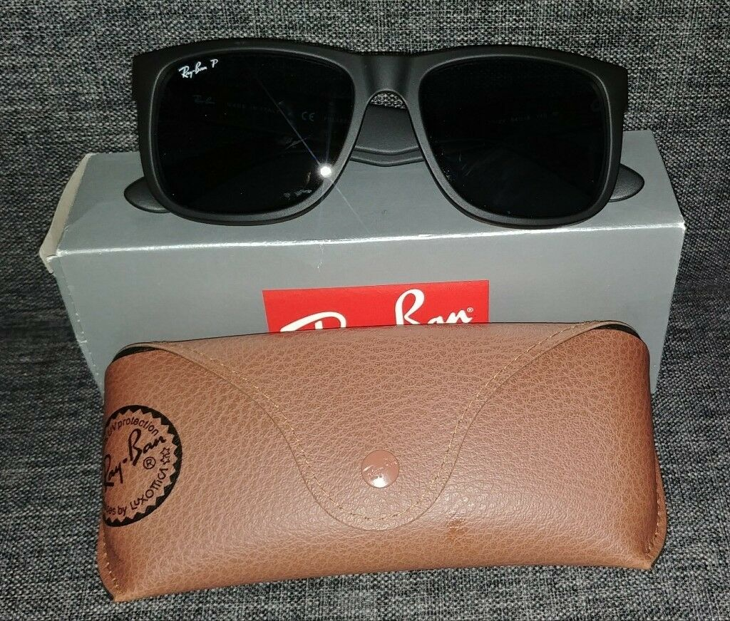 Ray-Ban polarised sunglasses - Justin RB 4165 622 2V black matt - wayfarer  polarized 8525097a2e
