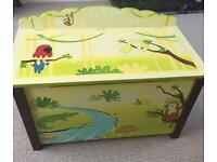NEW Unused Jungle Party Toy Box Chest by Guidecraft