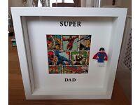 Large 3D box frame, Super Dad