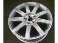 """audi tt alloy wheel 17"""" refurbished with tyre"""