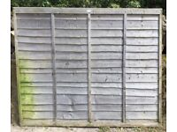 Wooden lap fence panels 183cm wide x 150 tall 5 available