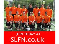 WEEKEND 11 ASIDE FOOTBALL IN LONDON, FIND FOOTBALL, PLAY FOOTBALL, NEW PLAYERS WANTED. 1H2G23