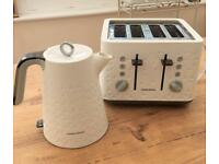 Murphy Richards Prism white kettle and toaster
