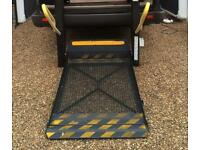 Electric disabled ramp