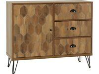 GET IT TODAY New industrial designer HEX Ottawa Walnut effect Sideboard £159